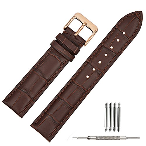 leather-watch-strap-brown-replacement-watch-bands-rose-gold-watch-buckle-clasp18mm-20mm-22mm-18mm