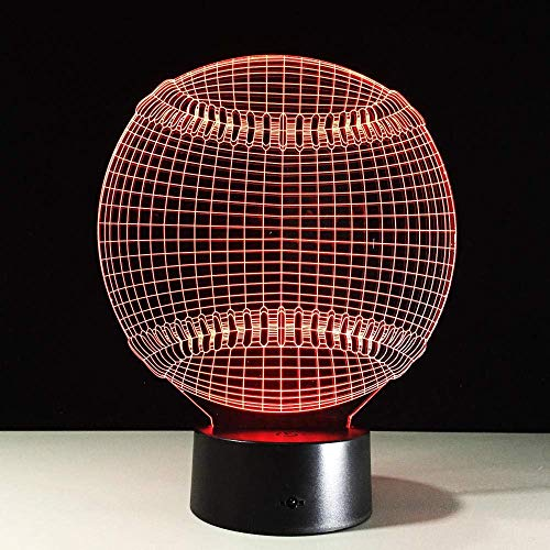 Neue Dropshop 3D Lampara Major League Baseball Baseball 3D Licht Hut Sport 7 Farbwechsel LED Nacht Touch Schreibtischlampe Kind Kind Schlaf Geschenk