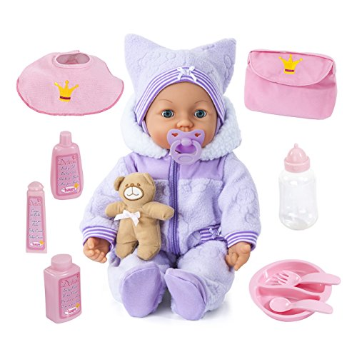 Sprechende Baby-puppe (Bayer Design 9469400 - Piccolina Magic Eyes Puppe, 46 cm)