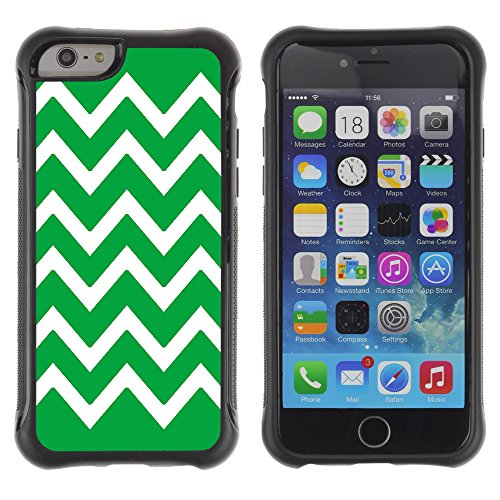 Graphic4You Chevron Muster Shockproof Anti-Rutsch Weichen Hülle Case Tasche Schutzhülle für Apple iPhone 6 Plus / 6S Plus (Rosa) Vert
