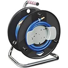 Enrollador de manguera para compresor estándar 20m Ø de manguera 6/12mm Guarnición DIN