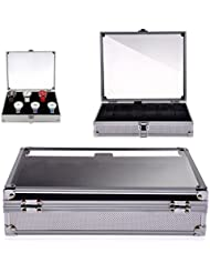 Generic - Expositor para relojes (para 12 relojes, tapa transparente, aluminio), color plateado