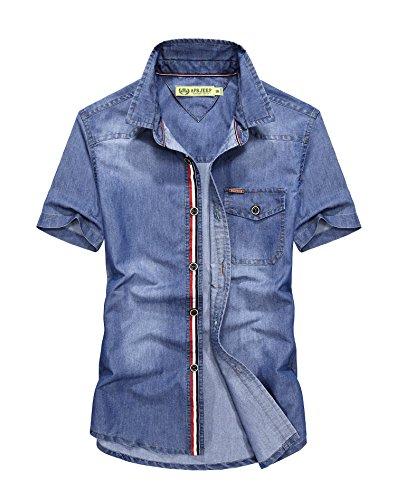 afs-jeep-homme-chemises-casual-manche-courte-shirt-tops-mode-men-slim-fit-2xl