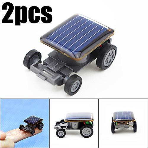 Solarauto 2 stücke Kleinste Solar Power Mini Spielzeugauto Racer Pädagogisch Spielzeug ()