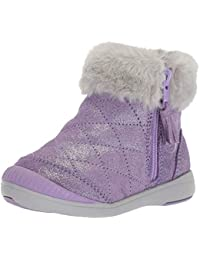Stride Rite Kids Chloe Girl's Sparkle Suede Bootie Fashion Boot