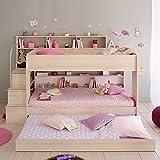 Pharao24 Kinderetagenbett mit Treppe Stauraum Bettkasten Ja