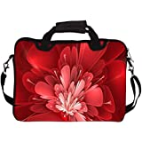 """Snoogg Fractal Flower Digital Art 17"""" 17.5"""" 17.6"""" Inch Laptop Notebook SlipCase With Shoulder Strap Handle Sleeve Soft Case With Shoulder Strap Handle Carrying Case With Shoulder Strap Handle For Macbook Pro Acer Asus Dell Hp Sony Toshiba"""