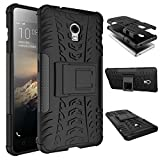 Triton Lenovo Vibe P1 Back Cover , Triton [Kickstand] [Heavy Duty Protection] [Dual Layer] Slim Fit Hybrid Shock Proof Protective Back Case for Lenovo Vibe P1 - Black