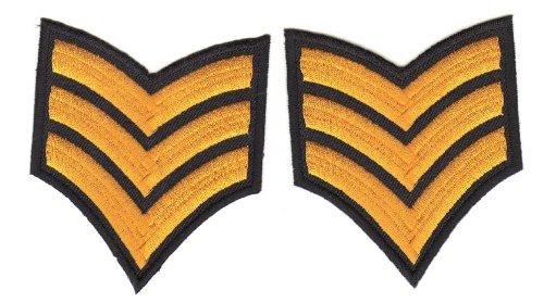 Aufnäher Bügelbild Aufbügler Iron on Patches Applikation Army Sergeant Abzeichen Armee (Hässliche Pullover Com)