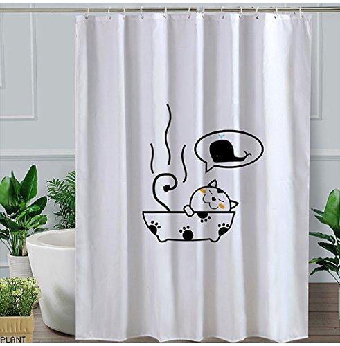 QQB @Duschvorhänge Bad Vorhang Tuch Duschvorhang Pull Vorhang Wasserdichte Dicke Warme Duschvorhang (größe : 240 cm wide*200 cm high O-hooks)