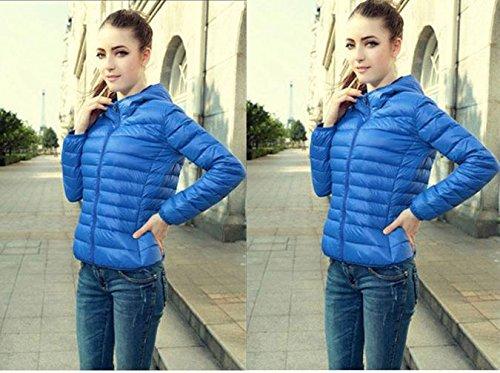 Sannysis 1PC Damen Winter warm Süßigkeit-Farben-Thin Schlank Daunenmantel Jacket Überzieher Blau