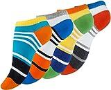 8 Paar Bunte Damen Sneaker-Socken Color Block Design, Baumwolle, farbige Streifen