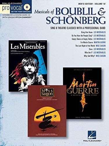 Musicals of Boublil and Schonberg Men's Edition Volume 18 [With CD] (Pro Vocal Men's Edition)