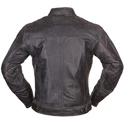 Modeka MEMBER Lederjacke Herren Motorrad Urban – schwarz Größe XL - 2