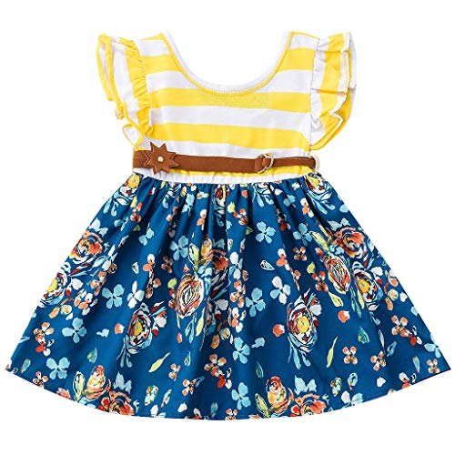 en Festlich,Allence Kinder Kleinkind Kind Baby Mädchen Kleider Sommer Minikleid Prinzessin Kleid Strand Kleider Party ()