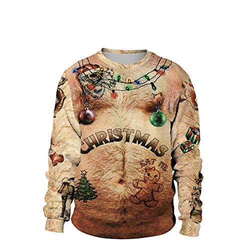 Weihnachtspullover Unisex-Sweatshirt 3D-Druck Neuheit Weihnachten Pullover Mit Langen -