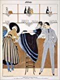 Posterlounge Alu Dibond 120 x 160 cm: Serenity, from The Weekly Journal 'La Baionnette', 1915 von Gerda Wegener/Bridgeman Images