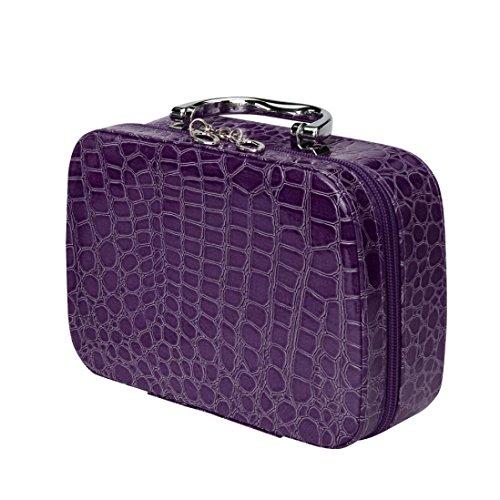 a1d7da657d00b yjydada Fashion organizador de cosméticos maquillaje bolsa de  almacenamiento funda de piel Joyero de viaje