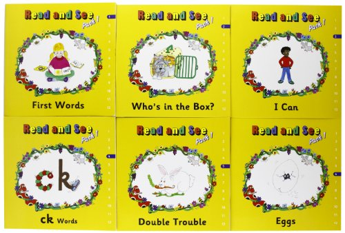 Jolly Phonics Read and See, Pack 1 (in Print Letters): In Print Letters (American English Edition)