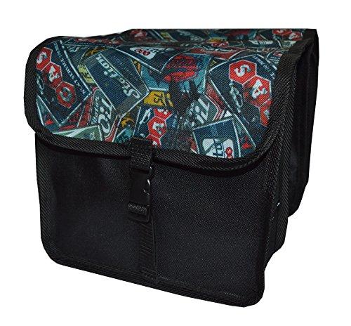 FAHRRADTASCHE Kinder Satteltasche Gepäckträgetasche Doppel 2 x 5l (9. Mini - Boy)