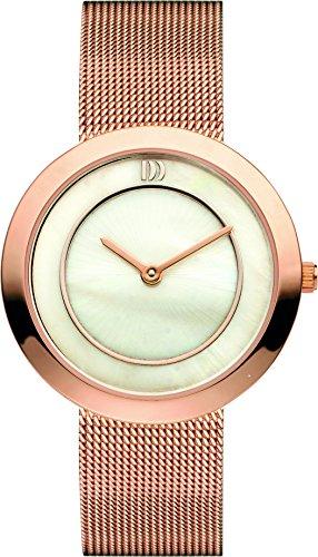 Danish Designs DZ120226 - Reloj de cuarzo para mujer, correa de acero inoxidable chapado en oro rosa color oro rosa