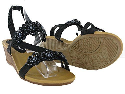 Cushion Walk  Rita,  Damen Sling Backs Schwarz
