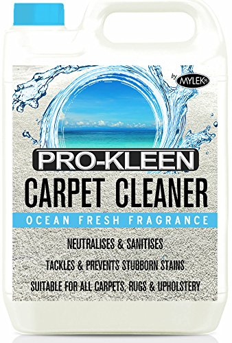 5L of Pro-Kleen x Mylek Ultima+ Professional Carpet & Upholstery Shampoo – Ocean Fresh Fragrance - High Concentrate Cleaning Solution - Suitable For All Machines