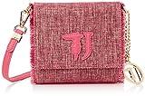 Trussardi Jeans Damen Ischia Textil Crossbody Bag Umhängetasche, Pink (Fuxia), 16.5x16.5x6.5 Centimeters