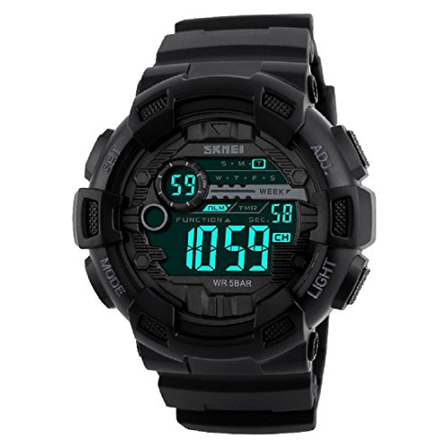 Skmei S-Shock Digital Black Dial Men's Watch(1243) image - Kerala Online Shopping