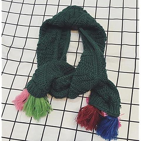 Inverno autunno caldo ispessimento knitting fazzoletto da collo per bambini , green