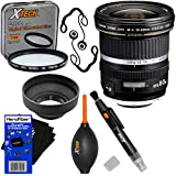Canon EF-S 10-22mm F/3.5-4.5 USM Wide-Angle Zoom Lens For Canon SLR Cameras - International Version (No Warranty) + 7pc Bundle Accessory Kit W/HeroFiber Ultra Gentle Cleaning Cloth
