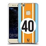 Head Case Designs Zyan Und Orange Speed Soft Gel Hülle für Huawei P10 Lite