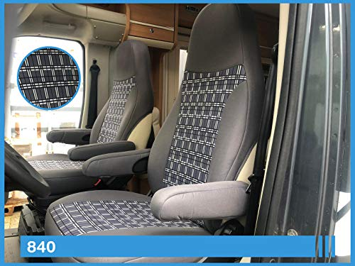 Maß Sitzbezüge Wohnmobil Fahrer & Beifahrer Farbnummer: 840