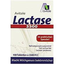 Avitale Lactase 3500 FCC, 100 Tabletten im Klickspender, 1er Pack