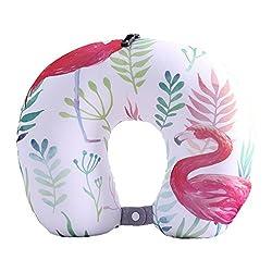 Boyann Flamingo Mikroperlen Nackenhörnchen U-förmigen Reisekissen Bücherkissen Muster 12