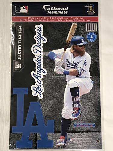 SP Images Inc. Justin Turner Dodgers Fathead Teamkollegen Wandaufkleber, 17 x 15 cm