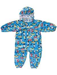 CADANIA Abrigo Impermeable con Capucha Impermeable con Capucha Impermeable Impermeable de Dibujos Animados Outwear Poncho Impermeable - Azul - S