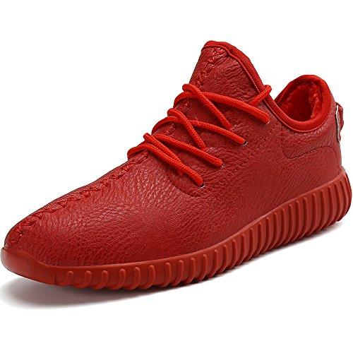 Rot Casual Schuhe (Warm Gefütterte Winterschuhe Herren Damen Winter Boots Wasserdicht Freizeitschuhe Outdoor Sport Schuhe Casual Sneakers Schneestiefel, Rot 42)