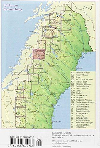 Fjällkartan 1 : 100 000 AC2 Tärnaby - Hemavan - Ammarnäs Bergwanderkarte: Alle Infos bei Amazon