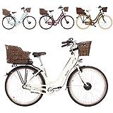 FISCHER E-Bike Retro ER 1804, verschiedene Farben, 28 Zoll, RH 48 cm, Vorderradmotor 20 Nm, 36 V Akku