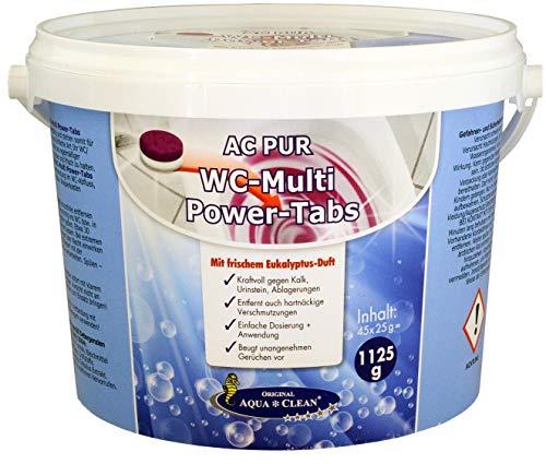 AQUA CLEAN PUR WC Multi-Power Tabs kraftvolle Reinigung Eukalyptus-Duft 45 Stück