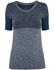Manuka Life Flow Camiseta, Mujer, Indigo Marl, M/L