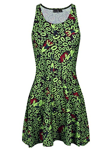 Poison Kleid Green Ivy (DC Comics Damen Kleid Poison Ivy Fatal Lips)
