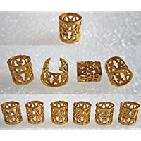Dread Lock Dreadlocks Braiding Beads Golden Metal