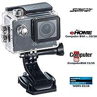 Somikon Action Kamera 4K: 4K-Action-Cam mit UHD-Video bei 24 fps, 16-MP-Sony-Sensor, IP68 (Zeitraffer Kamera)