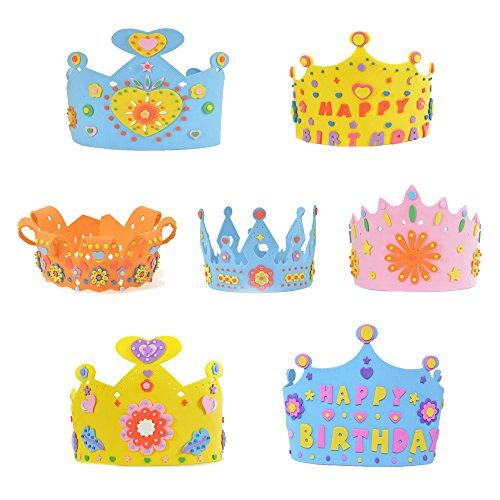 V-SOL Niños Sombreros para Cumpleaños Partido Fiesta Decoraciones DIY Accesorios Multicolor