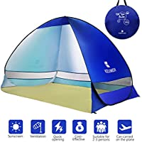 WloveTravel Outdoor Automatic Pop Up Beach Tent, Portable Cabin Camping Tent Sun Shelter for 3-4Person