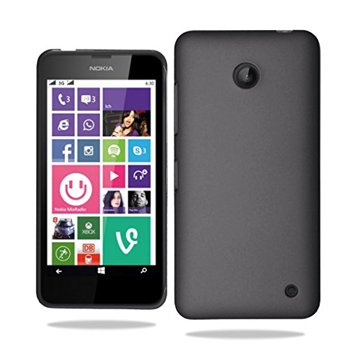 nokia-lumia-630-635-slim-hard-case-cover-free-screen-protector-black