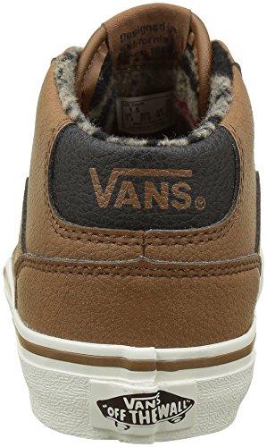 Vans Chapman Mid, Sneakers Basses Garçon Marron (Mte)