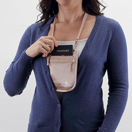 Eagle Creek Brustbeutel Silk Undercover Neck Wallet Geldtasche für Sport und Reisen aus Seide, rose Rose